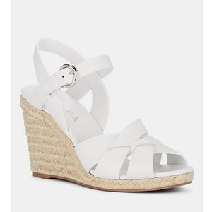🆕New Prada Espadrille Wedge Sandals(Authentic!!)